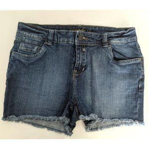 Dark Blue Faded Jean Women Shorts Sz 7